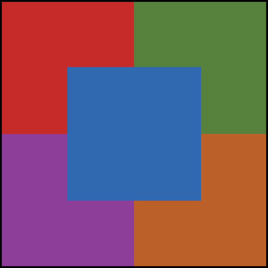 logo made up of five color squares