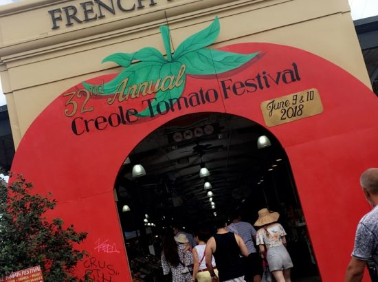 """French Market Archway to enter """"Creole Tomato Festival"""""""