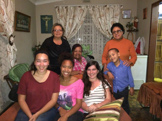 DukeEngage student with their home-stay family