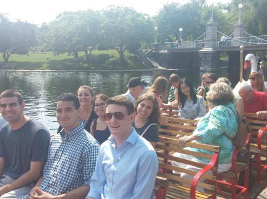 DukeEngage Boston group on a boat