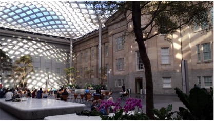 The Kogod Courtyard at The National Portrait Gallery