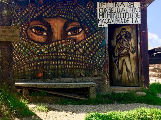 Mural of Che Guevara in Chiapas, Mexico
