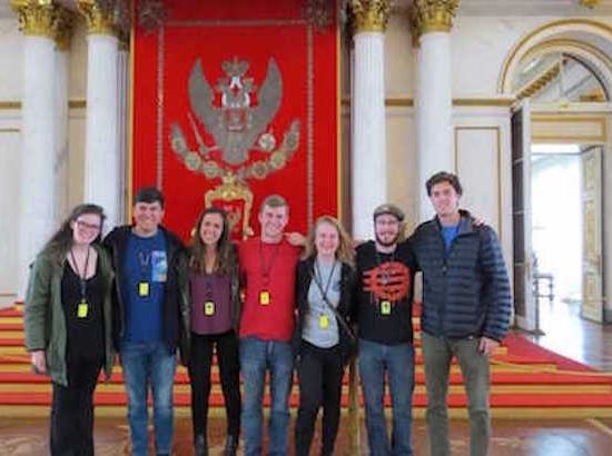 DukeEngage students during an enrichment activity in Russia