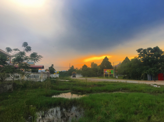 Landscape view of Vietnamese road