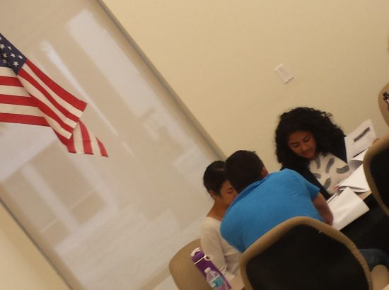 Students working in Miami