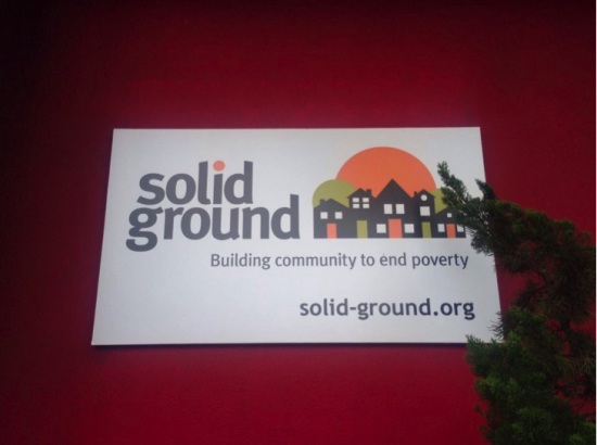 The Solid Ground (NGO) sign