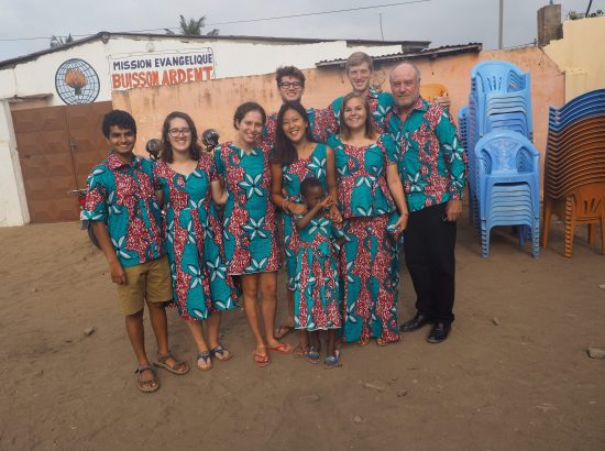 DukeEngage Togo group smiling and wearing matching clothes