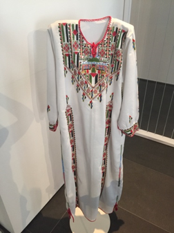 Am embroidered Palestinian dress