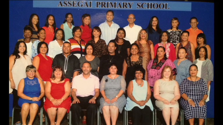The teachers of Assegai Primary School in South Africa