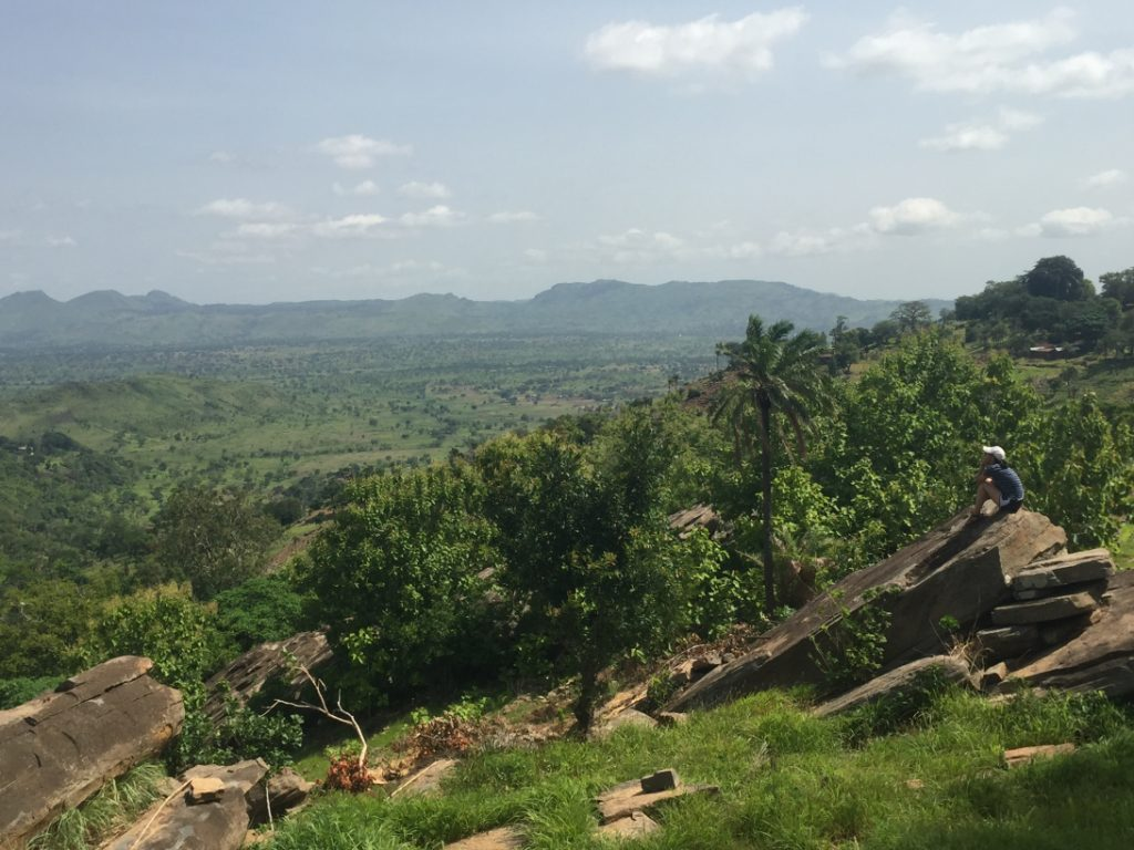 View from the top of Kuwdé in Togo