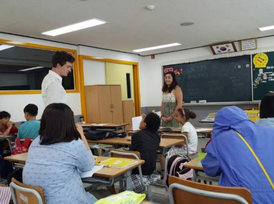 DukeEngage students teaching in South Korea