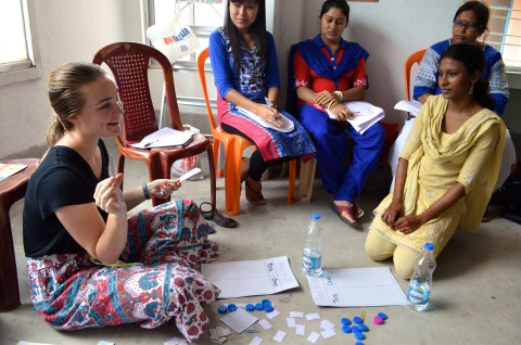 DukeEngage student teaching in Kolkata