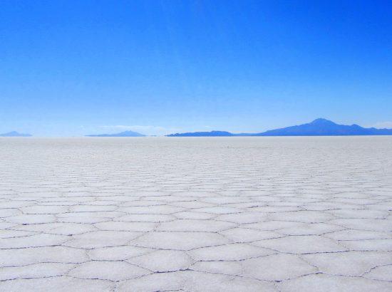 a crackled landscape