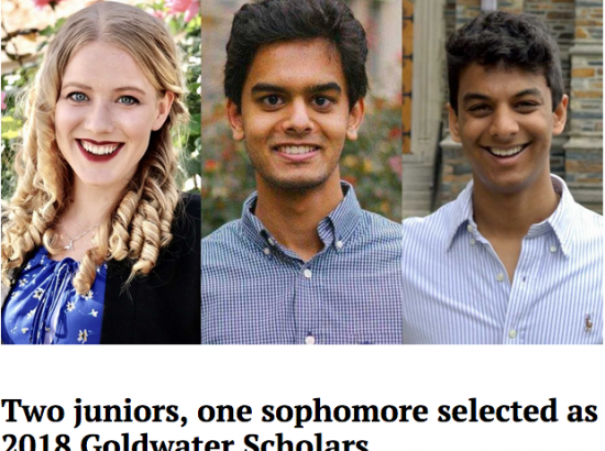 three photos of young people smiling, side by side with caption underneath