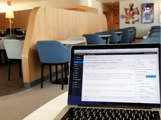 Waiting for my flight, writing this blog post at JFK airport.
