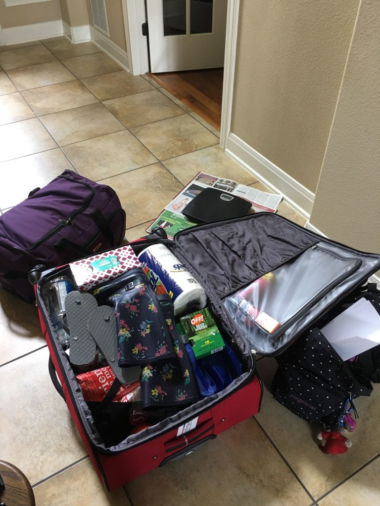 luggage not fully packed