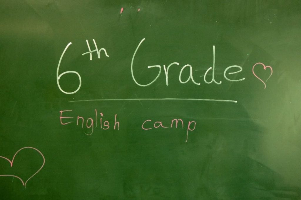 6th Grade English Camp