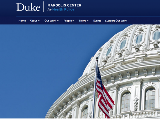 screen shot of duke health policy page