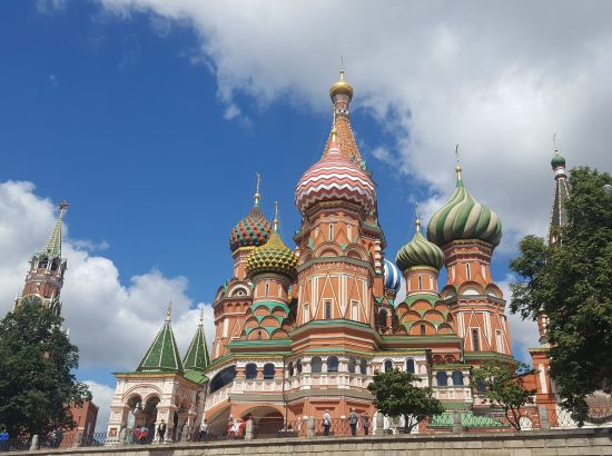 St. Basil's Cathedral in Red Square, Moscow. Photo: Alisa Bedrov