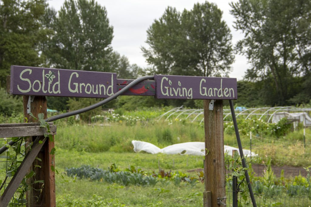 Entrance to the Solid Ground Giving Garden, a community education initiative at Marra Farm.