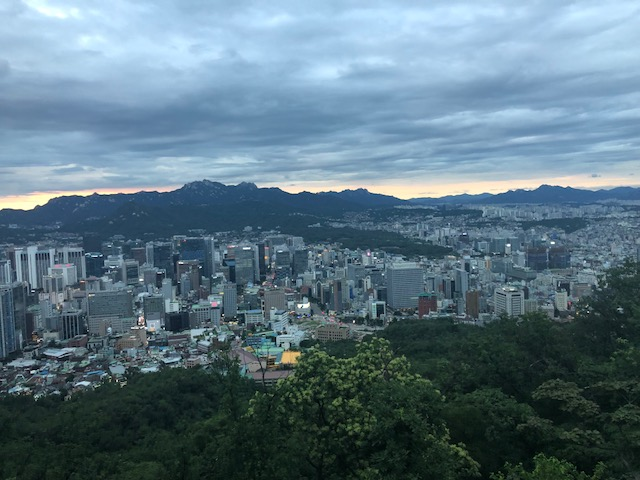 view from namsan tower