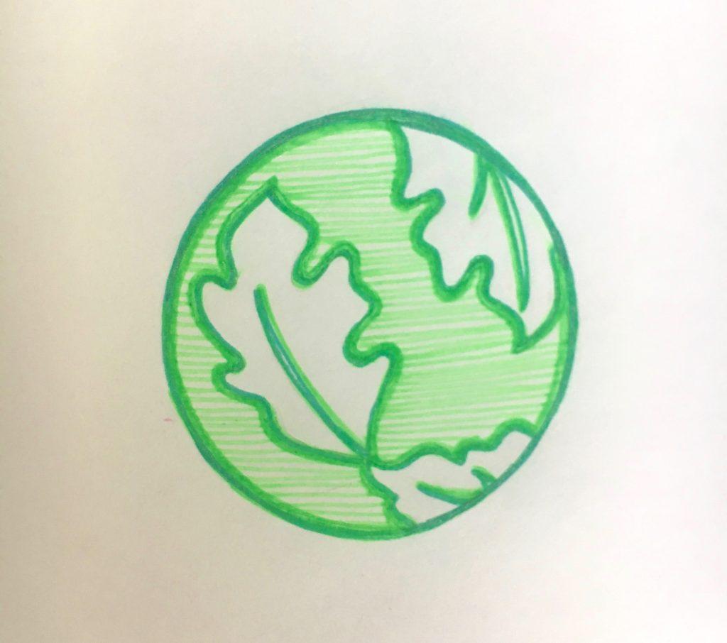 tiny doodle of logo