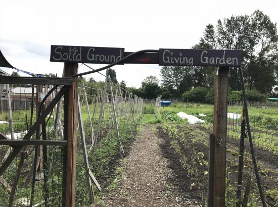Entrance to Solid Ground's garden on Marra Farm