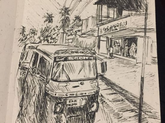 sketch of bus
