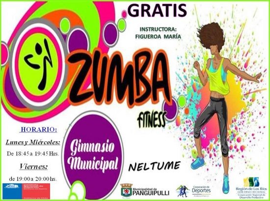 a colorful fitness flyer advertising Zuma classes