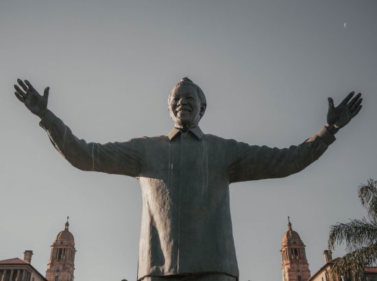 statue of mandela in Pretoria, South Africa