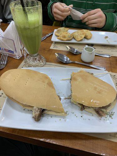 Mechada steak sandwich at local Valdivia café
