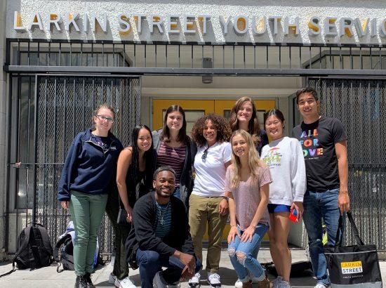 San Francisco cohort members posing with Larkin Street staff