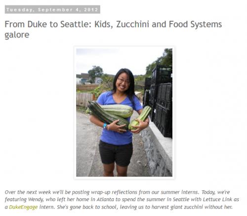 screenshot of blog post on Lettuce Link webpage