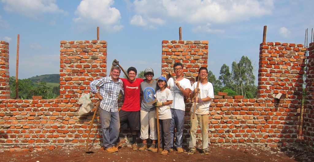 Duke Engineers for International Development team building a school in Uganda.