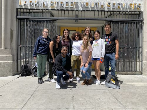 DukeEngage students in front of Larkin Street Youth Services.