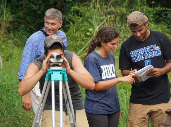 David Schaad and 3 DukeEngage students in the field