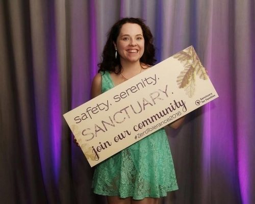 "Katie Becker at Sanctuary for Families ""Zero Tolerance"" annual benefit"