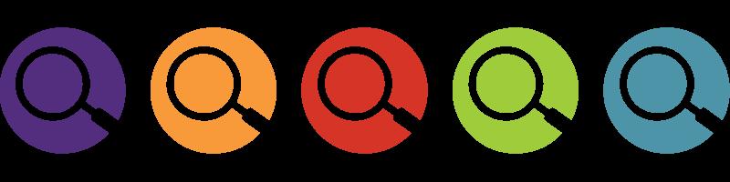graphic representing five different seminars, each a different color